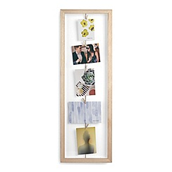 Umbra - Natural 'Clothesline' flip photo display