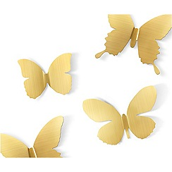 Umbra - Mariposa Wall Décor - Matte Brass
