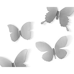 Umbra - Nickel 'Mariposa' butterflies wall decor
