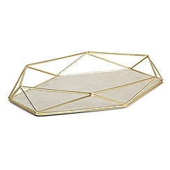Umbra - Matte brass 'Prisma' jewellery tray