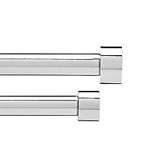 Umbra - Grey chrome 'Cappa' 72-144'' adjustable curtain pole