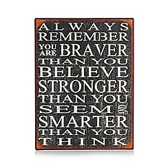 Heaven Sends - Black 'You are stronger' iron plaque