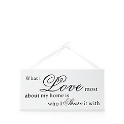 Heaven Sends - Wooden 'Love my home' sign