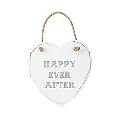 Sass & Belle - Wooden 'Happy ever after' heart sign
