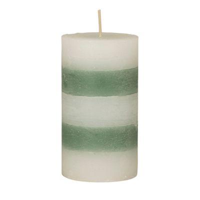 Broste Small green striped pillar - . -
