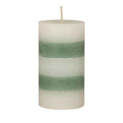 Broste Large green striped pillar - . -