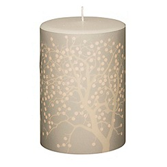 Broste - Tall fruit tree printed candle