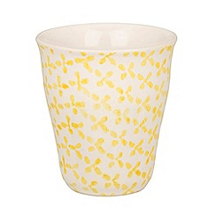Broste - Yellow flower printed mug