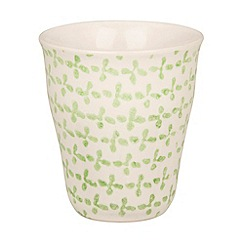 Broste - Green flower printed mug
