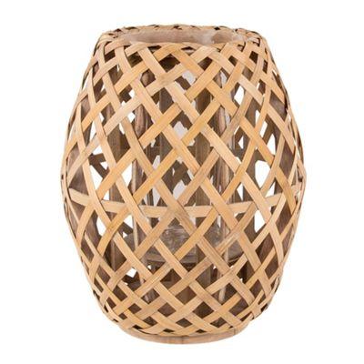 Broste Bamboo weave lantern - . -