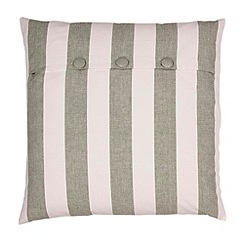 Broste - Green striped cushion