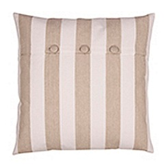 Broste - Beige striped cushion