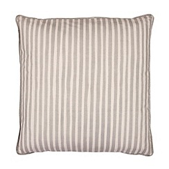Broste - Beige thin striped cushion