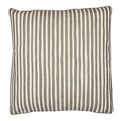 Broste - Green thin striped cushion