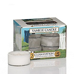 Yankee Candle - Classic 'Clean Cotton' tea lights