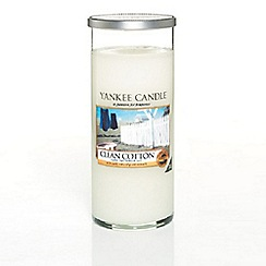 Yankee Candle - Decor 'Clean Cotton' large pillar candle