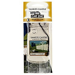Yankee Candle - Clean cotton 3-pack car freshener jar