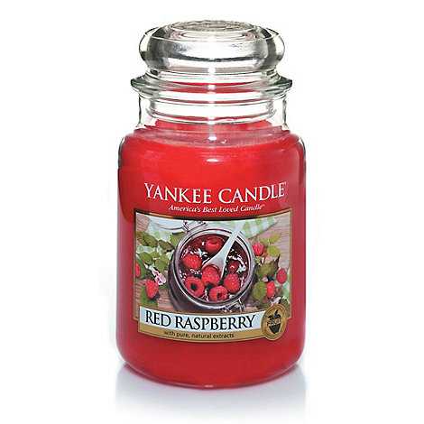Yankee Candle - Large +Red Raspberry+ scented jar candle