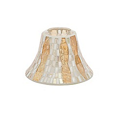Yankee Candle - Gold wave mosaic large shade & tray pack
