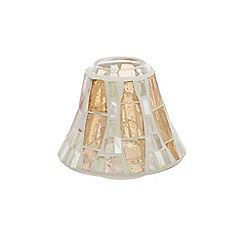 Yankee Candle - Gold wave mosaic small shade & tray pack