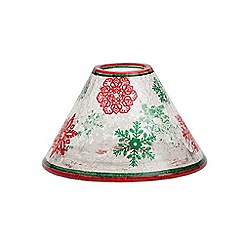 Yankee Candle - Red and green snowflake large shade and tray pack