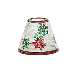 Yankee Candle - Red & green snowflake small shade & tray pack
