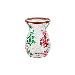Yankee Candle - Red and green snowflake melt warmer