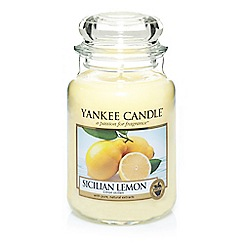 Yankee Candle - Classic 'Sicilian Lemon' large jar candle