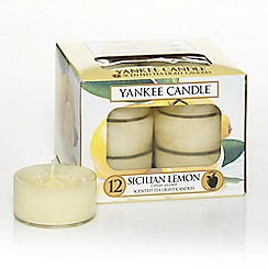 Yankee Candle - Classic 'Sicilian Lemon' tea lights