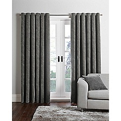 Home Collection - Grey chenille eyelet curtains