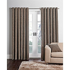Home Collection - Mink chenille eyelet curtains