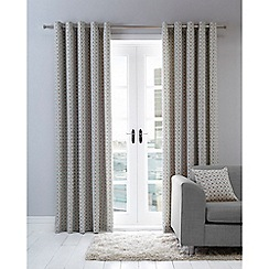 Home Collection Basics - Grey print eyelet curtains