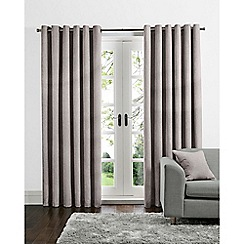 Home Collection - Dusky pink linen look eyelet curtains