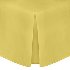 Home Collection - Yellow cotton rich percale valance sheet