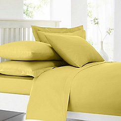 Home Collection - Yellow cotton rich percale standard pillow case pair