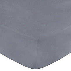 Home Collection - Mid blue 200 thread count Egyptian cotton fitted sheet
