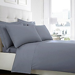 Home Collection - Mid blue 200 thread count Egyptian cotton standard pillow case pair