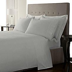 Debenhams - Supima light blue 500 thread count standard pillow case pair