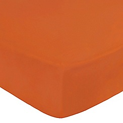 Home Collection - Orange cotton rich percale fitted sheet