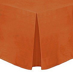 Home Collection - Orange cotton rich percale valance sheet