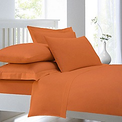 Home Collection - Orange cotton rich percale duvet cover