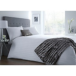 J by Jasper Conran - White 'Sateen Stripe' bedding set