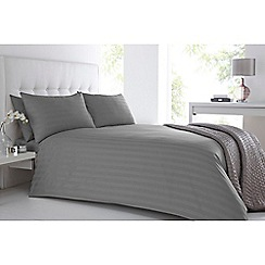 J by Jasper Conran - Grey 'Sateen Stripe' bedding set