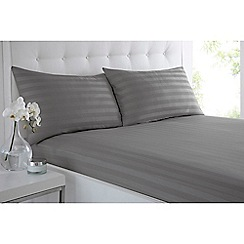 J by Jasper Conran - Grey 'Sateen Stripe' fitted sheet set