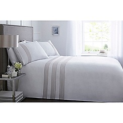 J by Jasper Conran - White 300 thread count 'Highbury' bedding set
