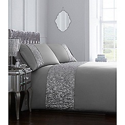 Star by Julien Macdonald - Silver 'Jessica' bedding set