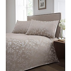 Home Collection - Natural 'Blossom' jacquard bedding set