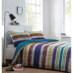 Home Collection - Multicoloured 'Criss cross' bedding set