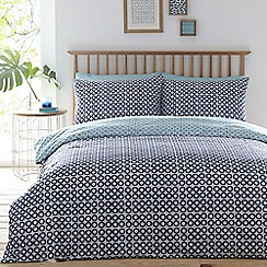 Home Collection Basics - Blue 'Freya' floral two pack bedding set