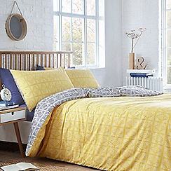 Home Collection Basics - Yellow 'Sabrina' geo two pack bedding set